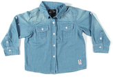 Something Strong Light Blue Pocket Denim Button-Up - Boys