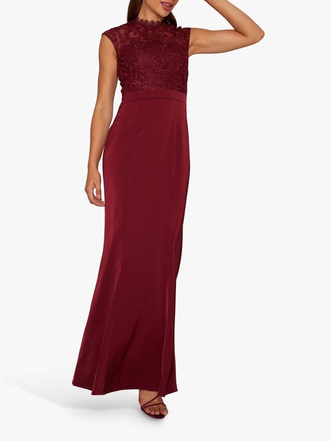 Chi Chi London Javeria Dress, Burgundy