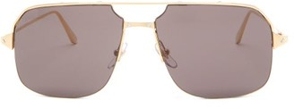 Cartier Bronze Aviator Metal Sunglasses - Grey