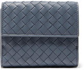 Bottega Veneta Intrecciato Leather Wallet - Blue