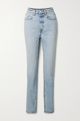 Alexander Wang High-rise Straight-leg Jeans - Light blue