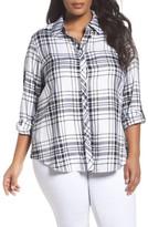 Foxcroft Plus Size Women's Plaid Shirt