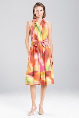 Natori Radiant Texture Collared Dress