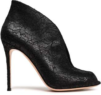 Gianvito Rossi Corded Lace Ankle Boots