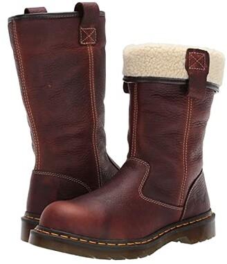 Dr. Martens Work Belsay Steel Toe (Teak) Women's Boots