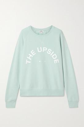 The Upside Bondi Printed Cotton-jersey Sweatshirt - Mint