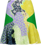 Peter Pilotto Fluted printed crepe mini skirt