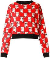 Reinaldo Lourenço - all-over print sweatshirt - women - Cotton - 36