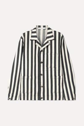 REJINA PYO Billie Striped Denim Jacket - Black
