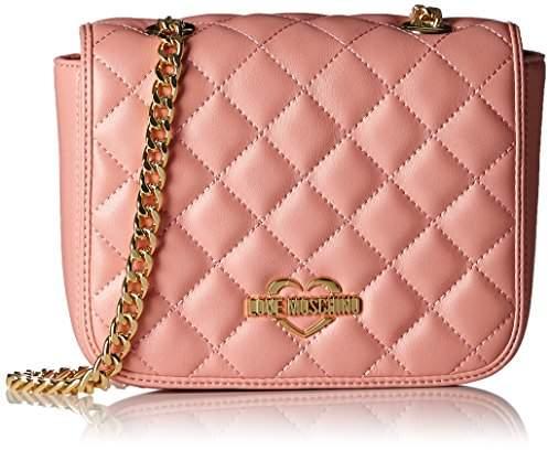 Love Moschino Borsa Nappa Pu Trapuntata Rosa, Women's Shoulder Bag,14 x 20 6 cm (wxhxd)