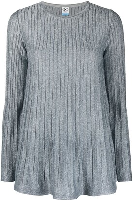 M Missoni Pleated Knit Long-Sleeved Top