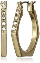 "Kenneth Cole New York Honeycomb"" Pave Geometric Hoop Earrings"