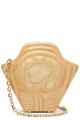 Sabry Marouf The Tutankhamun Wood Cross-body Bag - Beige Multi