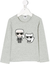 Karl Lagerfeld designer with cat printed top