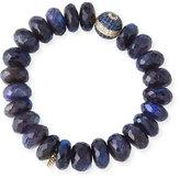 Sydney Evan 8mm Spectrolite Beaded Bracelet with Diamond & Sapphire Ball Bead
