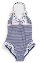 Hula Star 'Anchored' One-Piece Swimsuit (Little Girls)