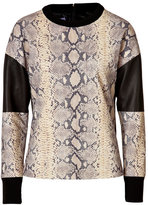 Ungaro Python Printed Leather Top