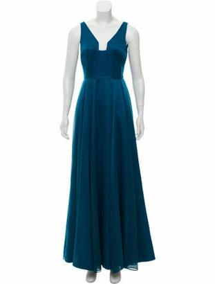 Halston Sleeveless Maxi Dress blue