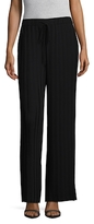 Theory Tralpin Crepe Pleated Wide Leg Pant