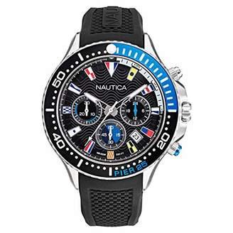 Nautica Men's NAPP25F09 Pier 25 Chrono Silicone Strap Watch