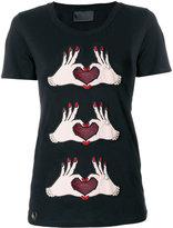 Philipp Plein appliqued T-shirt - women - Cotton/Polyamide/Brass - M