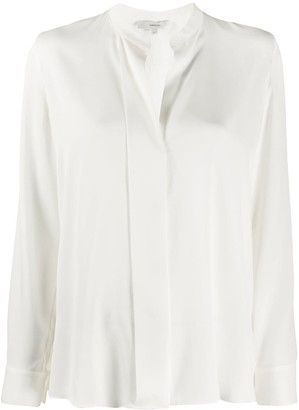 Vince Concealed-Fastening Silk Shirt