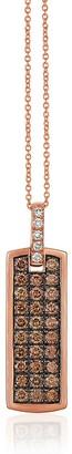 LeVian Chocolatier 14K Strawberry Gold, Chocolate Diamond Vanilla Diamond Pendant Necklace
