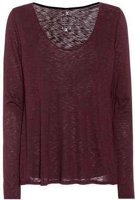 Velvet Nadia cotton-blend top