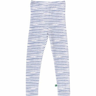 Green Cotton Fred's World by Girl's Ocean Stripe Leggings