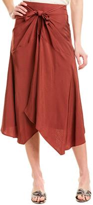 Vince Tie-Front Asymmetric Skirt