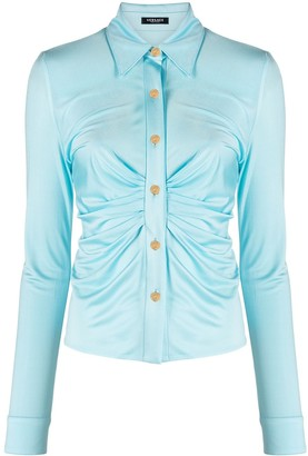 Versace Ruched-Front Shirt