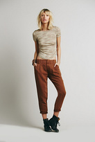 Free People Womens RELAXED WASHED TROUSER