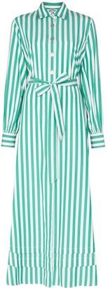 Evi Grintela Lily striped maxi shirt dress