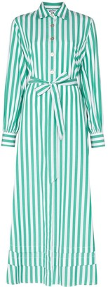 Evi Grintela Lily striped maxi shirt dress
