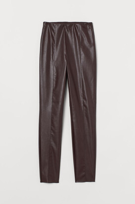 H&M Leggings with Creases - Red
