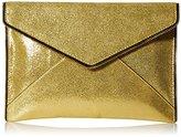 Rebecca Minkoff Crackle Leather Leo Envelope Clutch