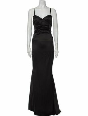 Pierre Cardin V-Neck Long Dress Black