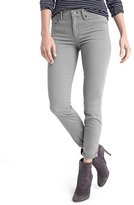 Mid rise sateen true skinny ankle jeans