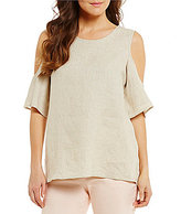 Antonio Melani Sarah Flax Linen Cold Shoulder Top