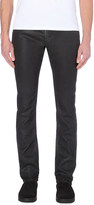 Diesel Thavar-ne slim mid-rise leather-effect jeans