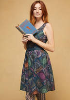 To Thrill a Mockingbird A-Line Dress in Books in XS - Sleeveless Fit & Flare Knee Length by ModCloth