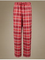 M&S Collection Cotton Rich Straight Leg Pyjama Bottoms