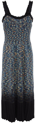 M Missoni Ruffle-trimmed Marled Cotton-blend Dress