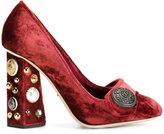 Dolce & Gabbana velvet jackie pumps - women - Silk/Leather/Suede/Viscose - 35