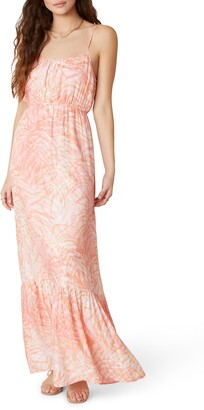 BB Dakota Islands in the Stream Palm Print Maxi Dress