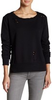 Romeo & Juliet Couture Distressed Split Knit Pullover
