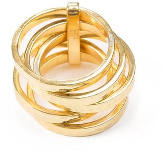 Jewel Tree London 5 Stack Ring Gold Vermeil