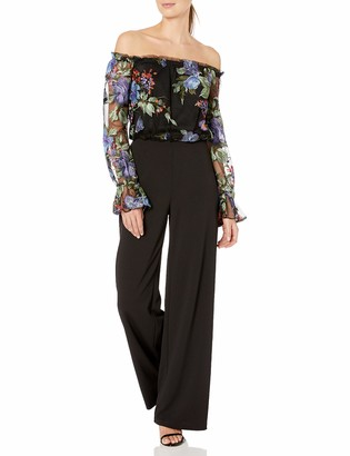 Adrianna Papell Women's Embroiderd Jumptsuit