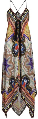 Etro Geometric Paisley Convertible Silk Handkerchief Dress