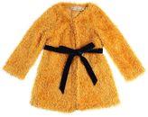 La Stupenderia Fuzzy Cardigan W/ Self Tie Belt